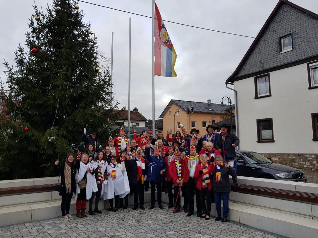 Flaggenhissung 2020 in Münster-Sarmsheim